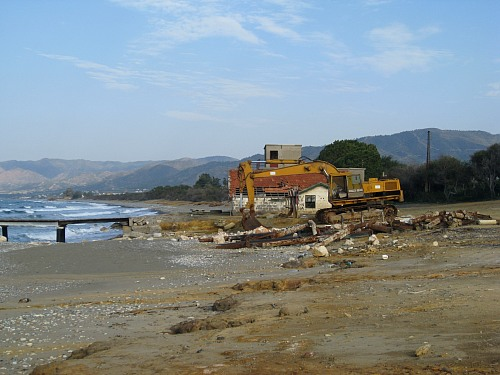 Limni (CYPRUS): The picture shows the remnants of the Limni port used to ship copper